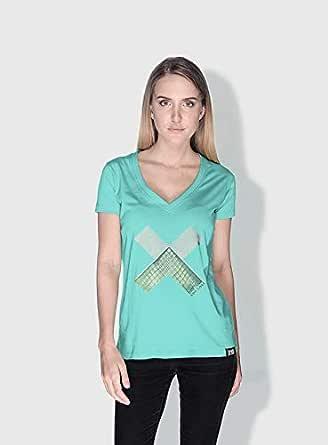 Creo Paris Louvre X City Love T-Shirts For Women - M, Green