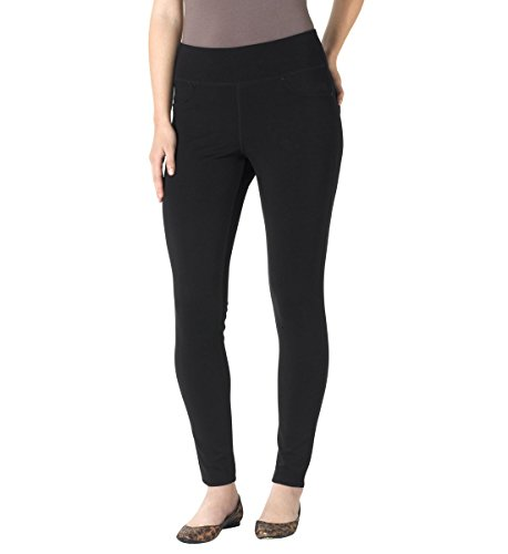 Jag Jeans Women's Petite Ricki Ponte Legging, Black, 8P
