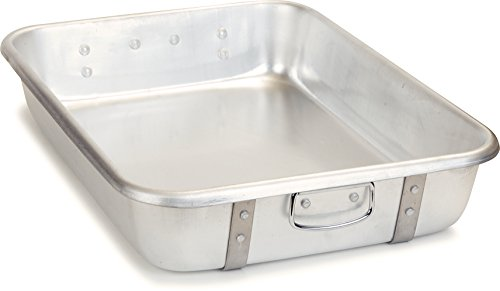 Carlisle Roasting Pan - Carlisle 60344 Aluminum Double Roast Pan, Cover, 28-qt. Capacity, 4.5