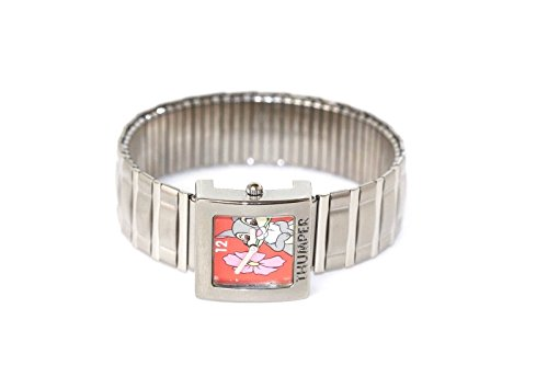 LORUS Thumper Rabbit Bambi Silver Square Stainless Steel Expansion Watch