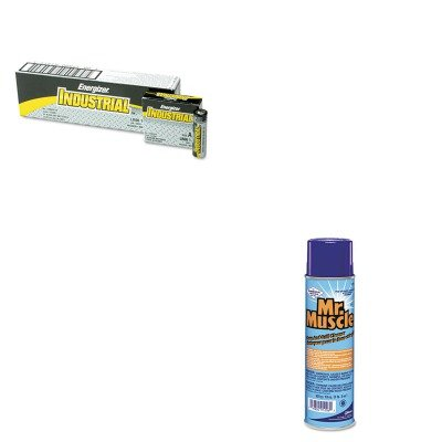 KITDRA91206CTEVEEN91 - Value Kit - Mr. Muscle Oven And Grill Cleaner (DRA91206CT) and Energizer Industrial Alkaline Batteries (EVEEN91) ()