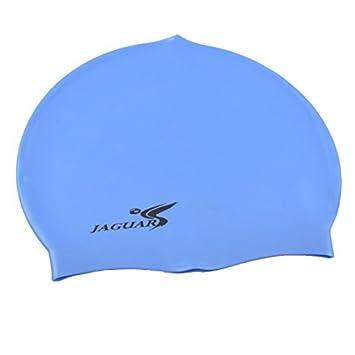 Amazon.com : eDealMax Forma Azul Cúpula de silicona elástico Snorkel natación Nadar Gorra de Pelo Largo : Sports & Outdoors