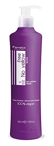 Fanola Free No Yellow Vegan Mask, 350 - Shampoo Mask