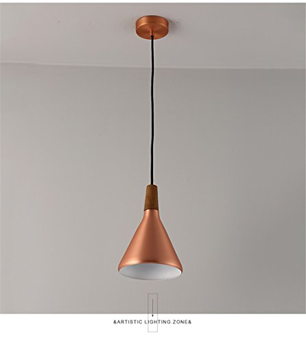 JhyQzyzqj Pendant Lights Chandeliers Ceiling Lights Sepia industrial wind creative personality Chandelier restaurant lounge bar after the bedroom bed LED walnut LED chandeliers (Bohemia Walnut)