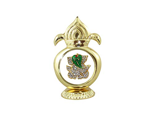 - GoldGiftIdeas 24K Gold Plated Kalash Shape Pan Ganesha Idol for Car Dashboard (Varad Vinayak), Return Gifts for Housewarming and Baby Shower, Idol for Table Top