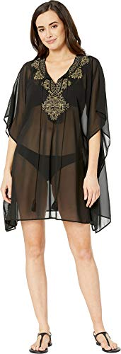 (Miraclesuit Petal to The Metal Cover-Up, L, Black)