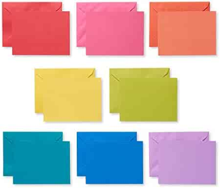 American Greetings Rainbow Blank Single Panel Cards and Colored Envelopes, 200-Count
