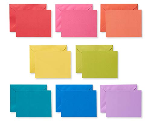 American Greetings Rainbow Single Panel Blank Cards and Colored Envelopes, -