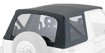RAMPAGE PRODUCTS 99835R Factory Replacement Soft Top for 1995-1998 Suzuki Sidekick/Geo Tracker, Black Diamond w/Tinted Windows ()