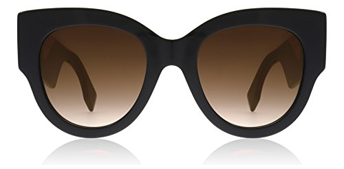 Fendi FF0264/S 807 Black FF0264/S Round Sunglasses Lens Category 3 Lens - Sunglasses Fendi Polarized
