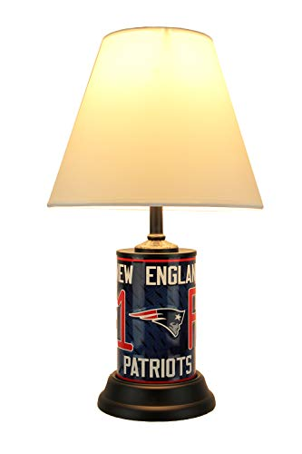 NFL New England Patriots Number 1 Fan License Plate Lamp with Fabric Shade