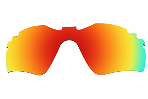 Polarized Lenses Replacement for Oakley Radar Path Vented Sunglasses - 6 Options Available (Red Mirror Coatings)