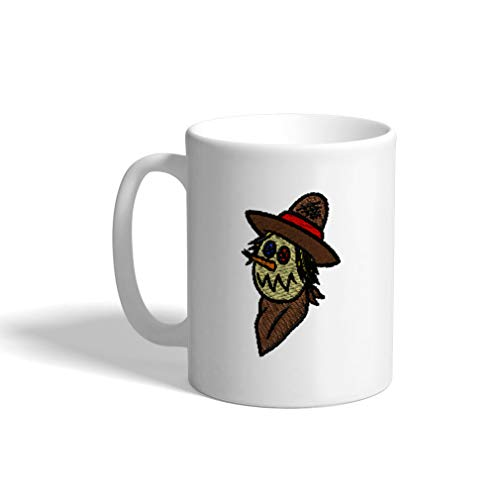 Ceramic Funny Coffee Mug Coffee Cup Halloween Scarecrow White Tea Cup 11 Ounces]()
