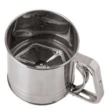 World Cuisine Paderno Stainless Steel Flour Sifter - 2 per case