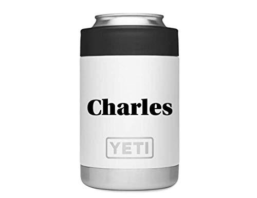Customized YETI Tumbler, Custom Yeti Rambler Vacuum Insulated Stainless Steel Colster, Custom YETI coozie, Personalized Yeti Koozie, Custim Yeti Koozie ()