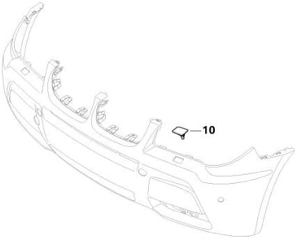 BMW Genuine Front Left Headlight Washer Cover Primed E83 X3 61673443131