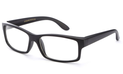 [IG Unisex Clear Plastic High Fashion Thick Clear Lens Glasses in Matte Black] (Men In Womens Costumes)