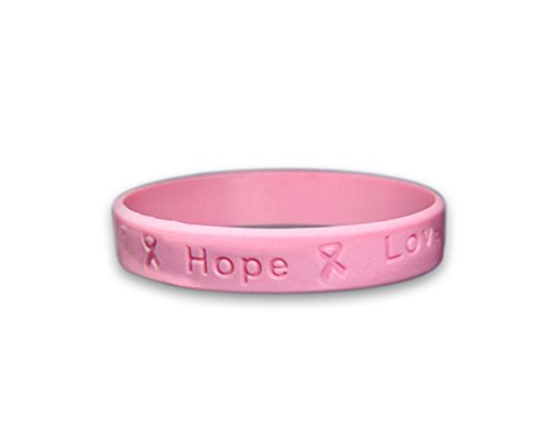 Breast Avon Walk Cancer (Breast Cancer Awareness Pink Silicone Bracelets - Child Size (25 Bracelets in a Bag))