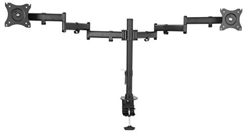 VIVO Dual Computer Monitor Mount Fully Adjustable VESA Stand for Two Ultra Wide Screens up to 38' (STAND-V032M)