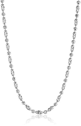 14k Italian White Gold Typhoon Chain 2.0mm Chain Necklace...