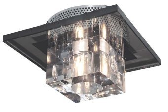 Black Pendant Light With Crystals in US - 3