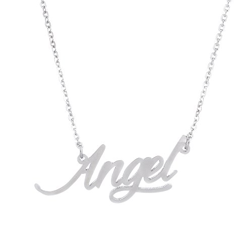 (AOLO Silver Color Angel Hand Stamped)