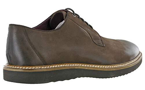 Dark de Chaussures Lambretta Lacets Ville Homme pour Derby à Brown Z1qnxwx