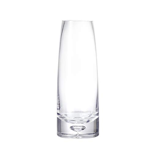 Ekirlin Glass Vase for Flowers,10.6inch Cylinder Glass Table Planters with Bubble Design for Wedding Decorations,Office Desktop Meeting Room Decoration,Party,Birthday and Formal Dinners (Transparent) ()
