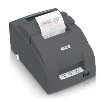 Epson C31C514767 Epson, TM-U220B, Dot Matrix Receipt Printer, Ethernet (E04), Epson Dark Gray, Auto Cutter, Power Supply Included Replaces C31C514667