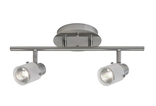 Radionic Hi Tech K_TKL_8772 Becca 2 Light Brushed Nickel Track Light, 15''