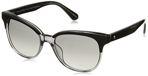 Kate Spade Women's Arlynn/s Square Sunglasses, Black Dark Gray Gradient, 52 - Spade Sunglasses Kate Gray