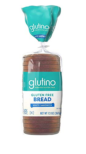 Glutino White Sandwich Bread 13 Oz, Pack of 12