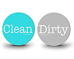 "Our 3"" Dirty/Clean Dishwasher Premium Flexible Magnet is the perfect size, easy to use has a simple yet trendy design to accent your other turquoise / aqua products....... PLEASE NOTE: not all appliances are magnetic, so before ordering you s..."