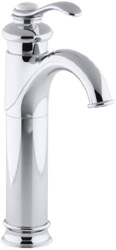 (KOHLER K-12183-CP Fairfax Tall, Single Control Lavatory Faucet, Polished)