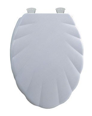 Mayfair Shell Molded Wood Seat Elongated, Sculptured Durable Multi Coat Enamel White (Seat Sculptured)