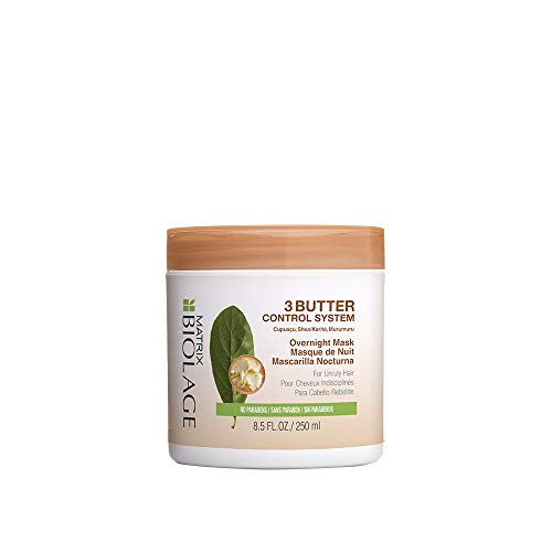 BIOLAGE 3Butter Control System Overnight Mask For Unruly Hair, 8.5 Fl Oz