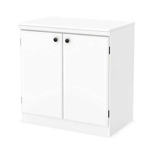 South Shore Morgan 2-Door Storage Cabinet, Pure White (White 2 Door Wardrobe)