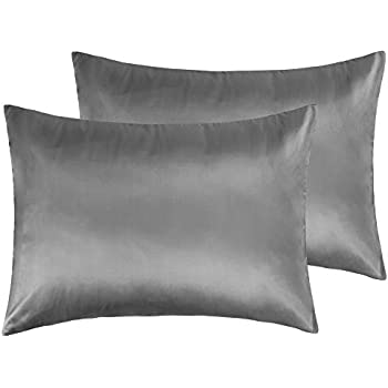 Amazon Com Ntbay Zippered Satin Pillowcases Super Soft