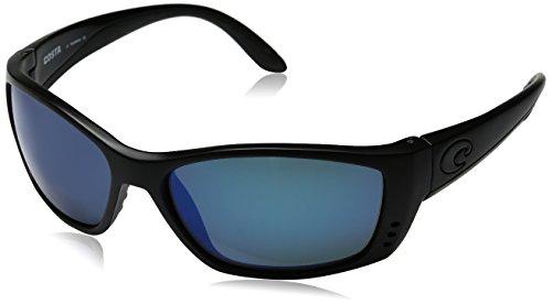 Costa del Mar Men's Fisch Polarized Iridium Oval Sunglasses, Blackout/Blue Mirror, 63.5 - Sunglasses Fisch Del Mar Costa