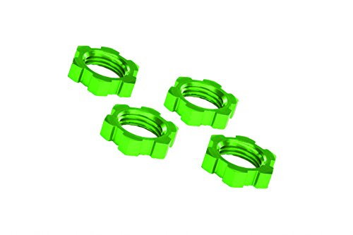 Traxxas Green Anodized-Aluminum 17mm Splined Wheel Nuts Accessories/Tools
