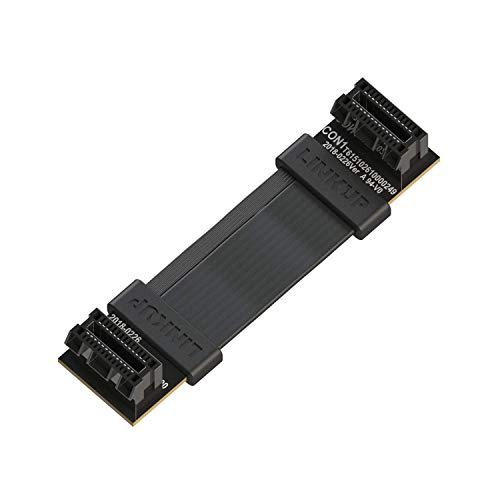 LINKUP Flexible SLI Bridge GPU Cable Extreme High-Speed Twin-axial Technology Premium Shielding 100ohm Design for nVidia GPUs Graphic Cards - [4 cm] (Sli Nvidia Cable)