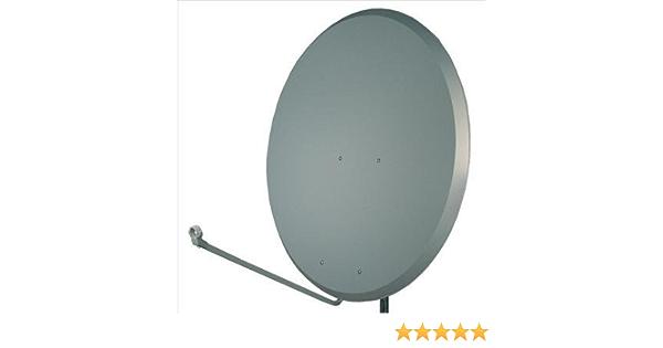 1,2 m gris de acero para barra de antena parabólica con/Soporte Kit de fijación para - gris oscuro