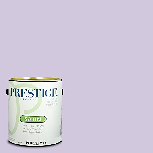 Sherwin Williams Satin (Prestige Paints Interior Paint and Primer In One, 1-Gallon, Satin,  Comparable Match of Sherwin Williams Rhapsody Lilac)