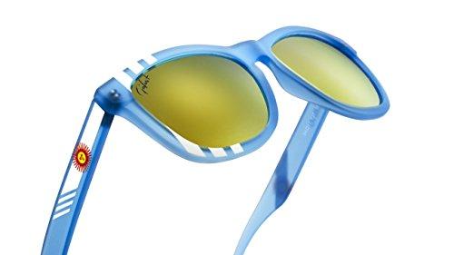 Polarized Sunglasses for Men Women Shade Matte Mirrored Rubberized 2018 Stylish 100% UV400 Protection Revo Lens Sky Blue (Argentina)