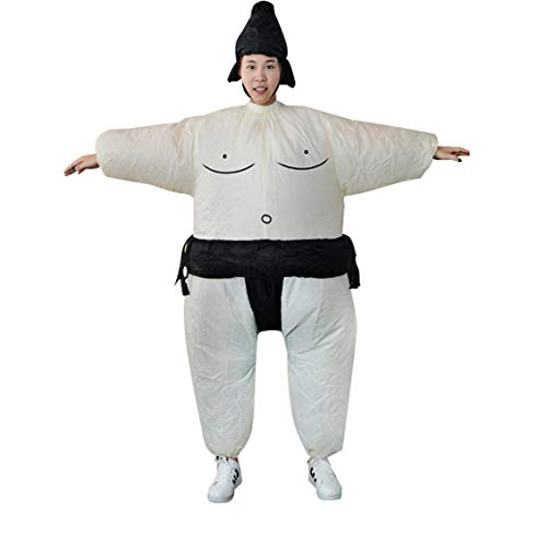 Inflatable Sumo Dress Fat Man and Woman Suite Fat Masked Suit Blow Up Dress -