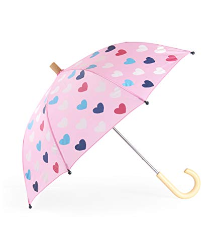 Hatley Girls' Little Printed Umbrellas, Lovely Hearts One Size ()