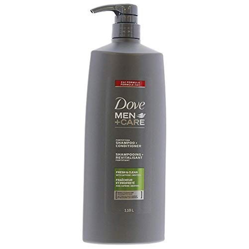 Fortifying Care - Dove Men + Care 2 In 1 Formula Fortifying Shampoo and Conditioner, Fresh & Clean - 2 Pk x 40 Fl. Oz (Total 80 Fl.Oz)