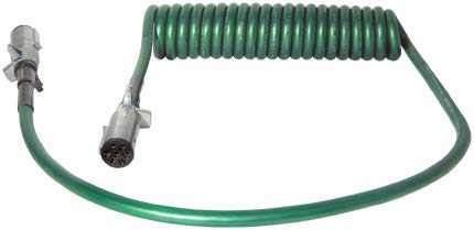 Tectran 7ATG512MG Powercoil-ABS Duty, Green, 15', 1 x 12/1 x 72 Lead Length, 2 with Spring Guard