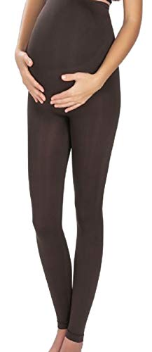 Mothers Essentials Maternity Pregnant Women Leggings, Shipping from USA (Medium, Brown)