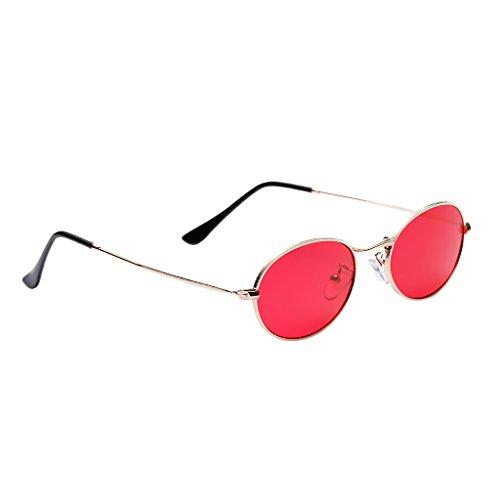Accesorios Gafas Espejo UV400 Plano 50 Unisex Rojo Hombre de Vintage Mujer Metal Dolity mm blanca Astilla qBwzvxYx